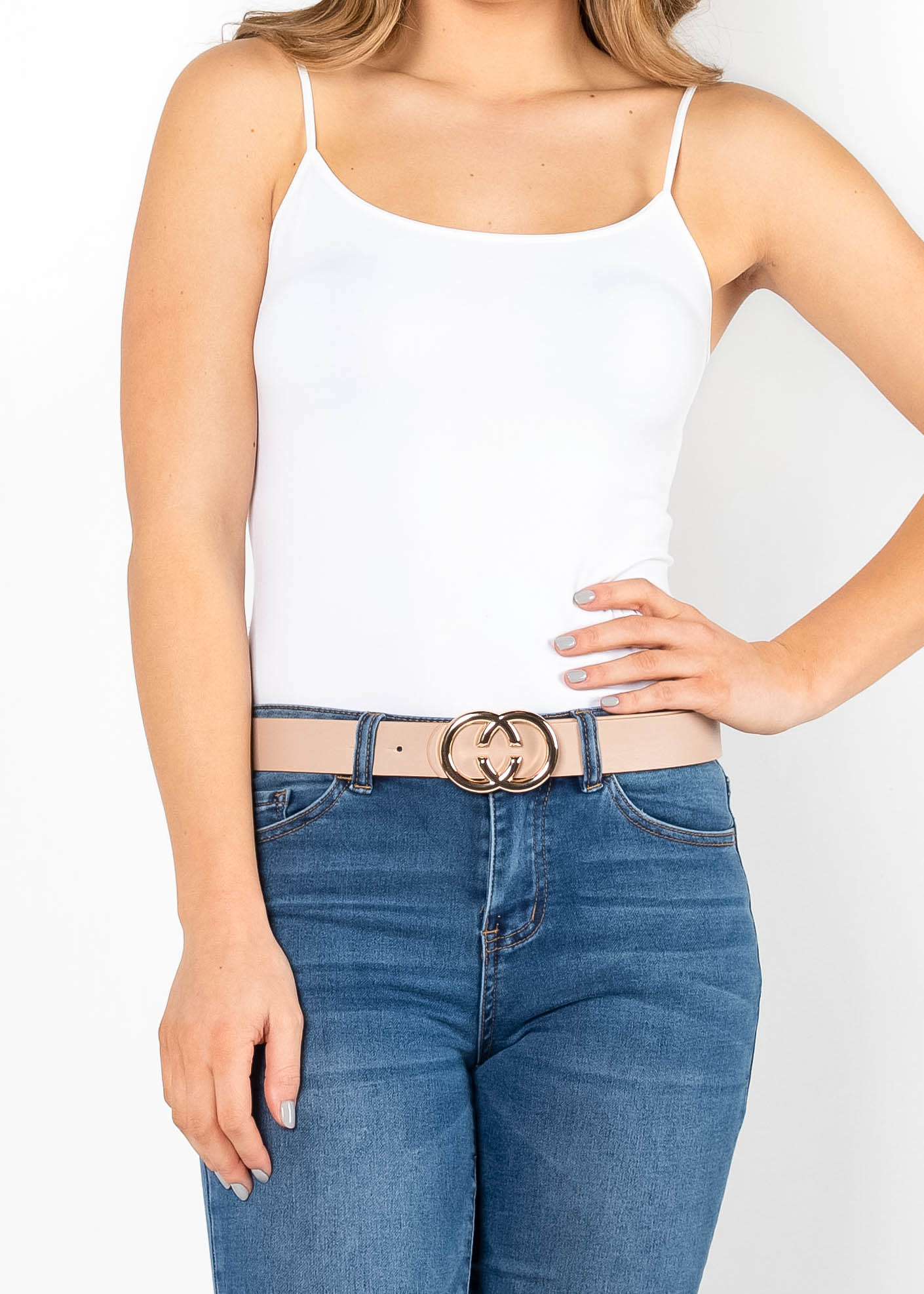FINISHING TOUCH BELT - TAUPE