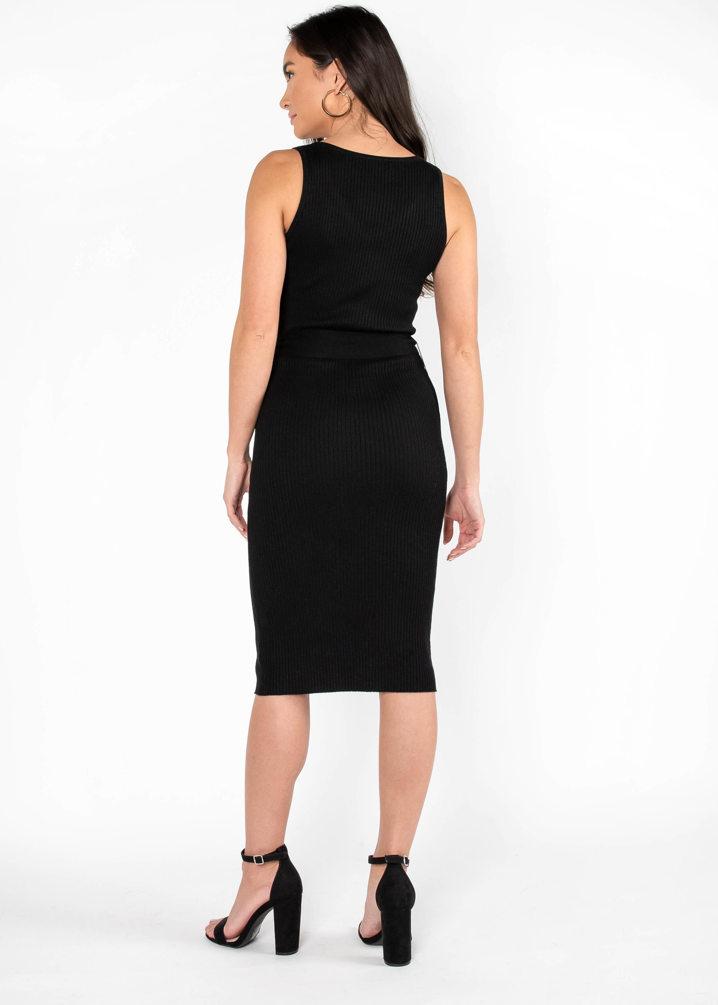 CITY CHIC MIDI DRESS - BLACK