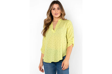 ONLY IN NEW YORK POLKA DOT BLOUSE