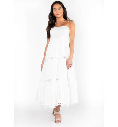 LOVE STORIES EYELET MAXI DRESS