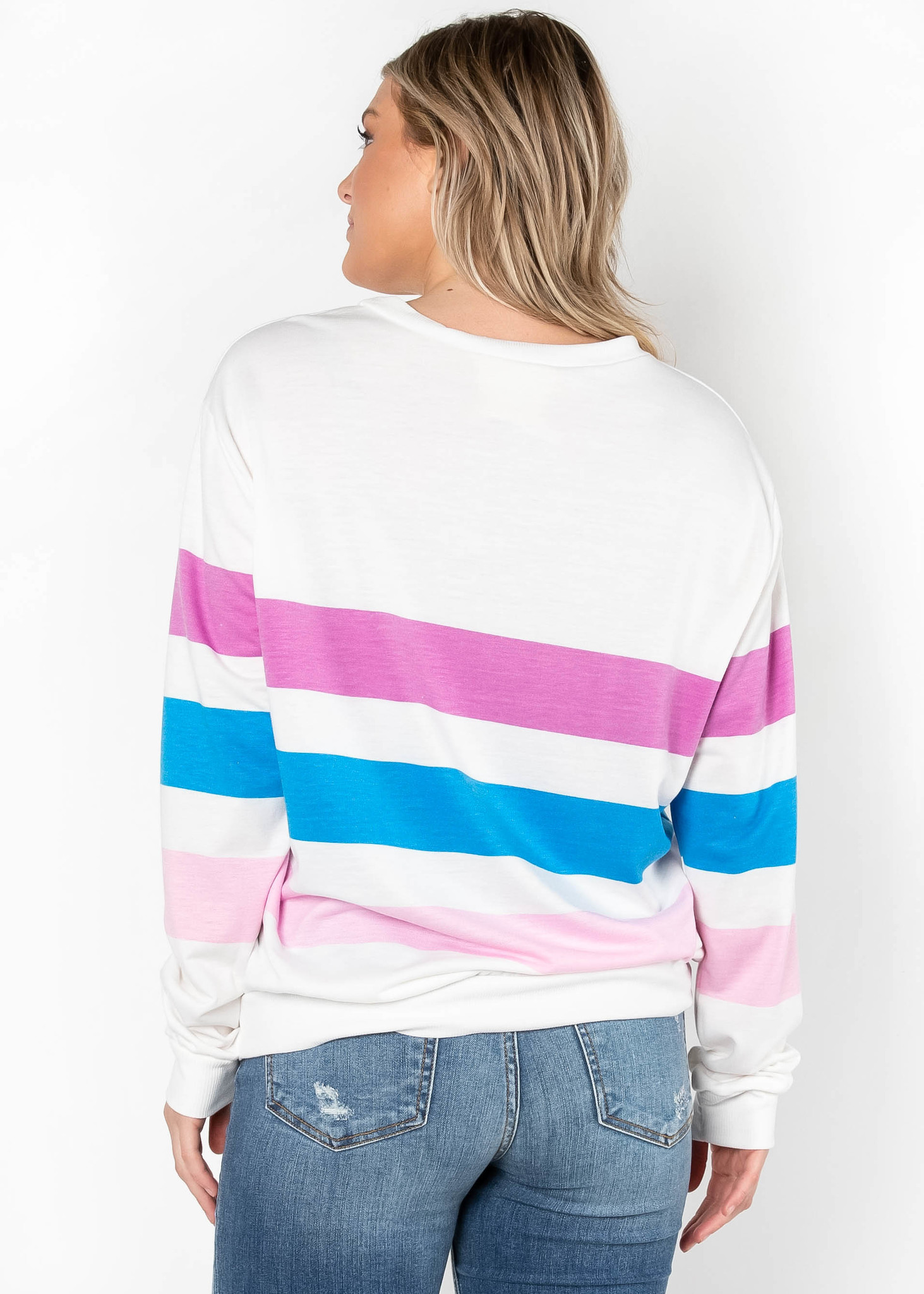 IT'S A MATCH COLOR BLOCK SWEATER