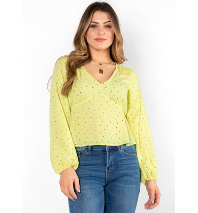 BETTER TO BELIEVE PEPLUM BLOUSE
