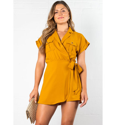 ONE + ONLY SHORT SLEEVE ROMPER
