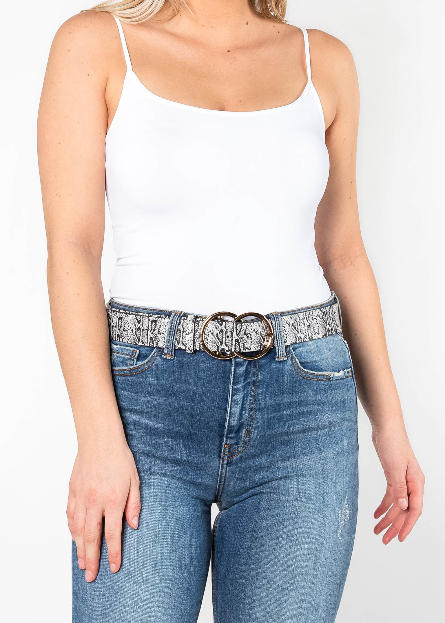 CHARMER PRINTED BELT - BLACK