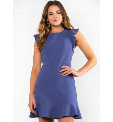 RAY OF BEAUTY CAP SLEEVE DRESS
