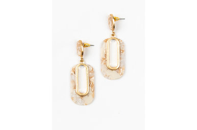 MILEY EARRINGS - BEIGE