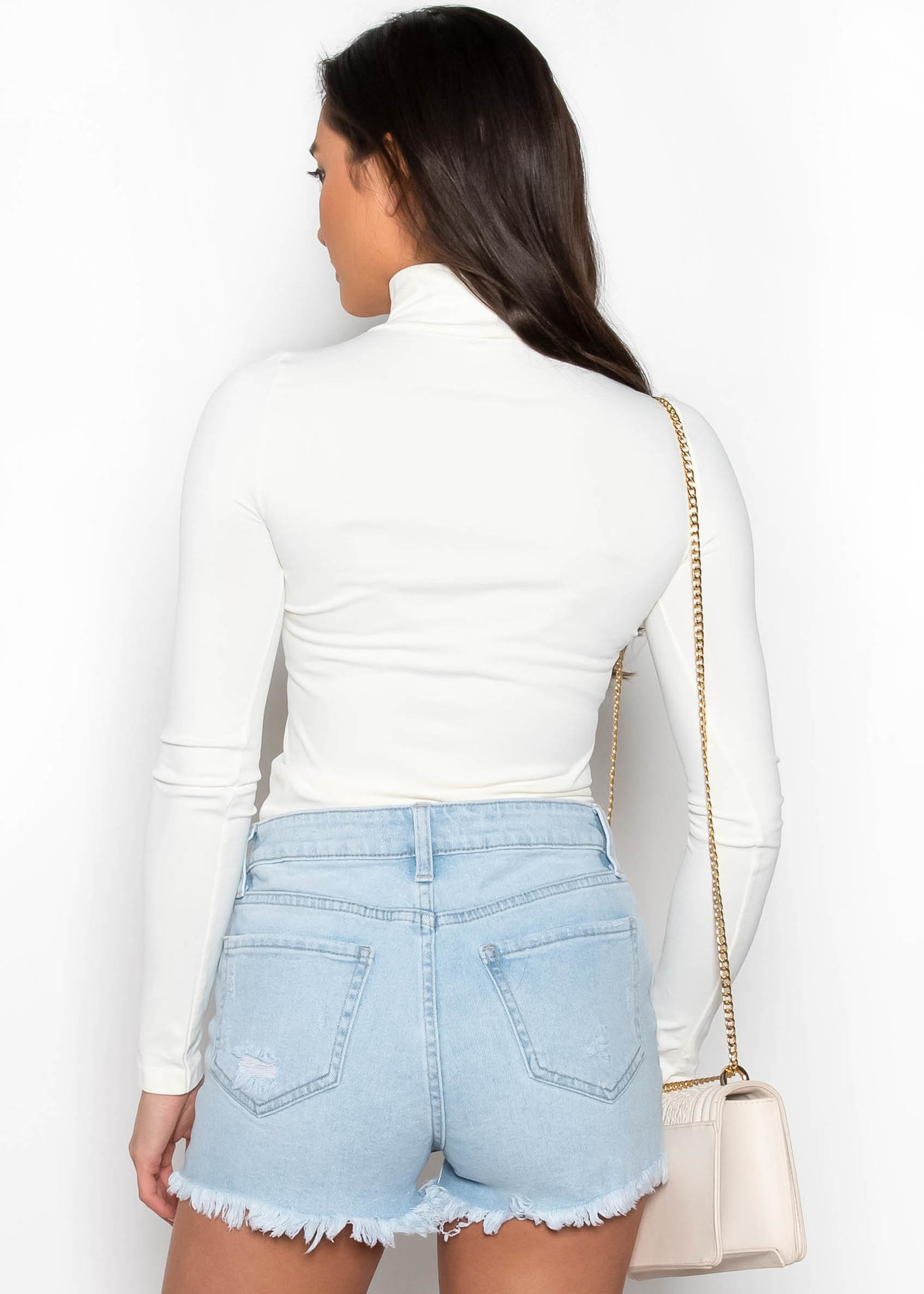 THINK TWICE TURTLENECK TOP - IVORY