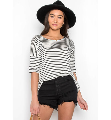 JUST BECAUSE STRIPED TUNIC