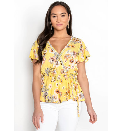 SUNSHINE AFTER RAIN PEPLUM TOP