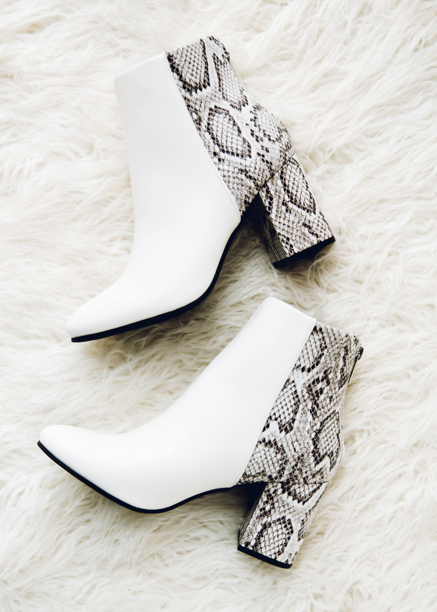 SEALED SECRETS WHITE BOOTIES