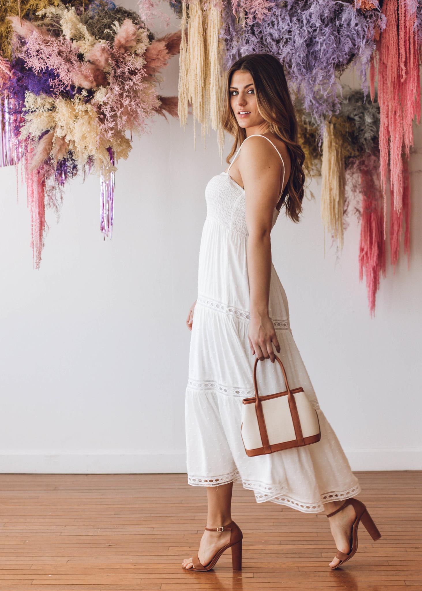 LOVE STORIES EYELET MAXI DRESS