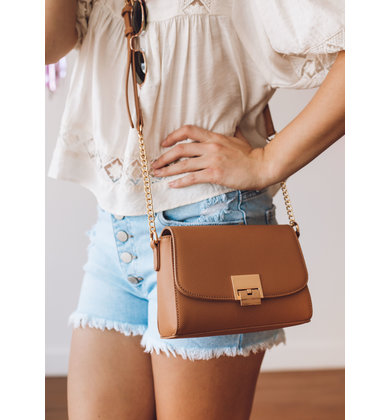 MIRANDA CROSSBODY BAG - TAN
