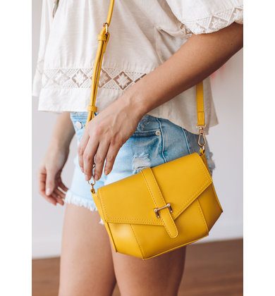 BENSON CROSSBODY BAG - YELLOW