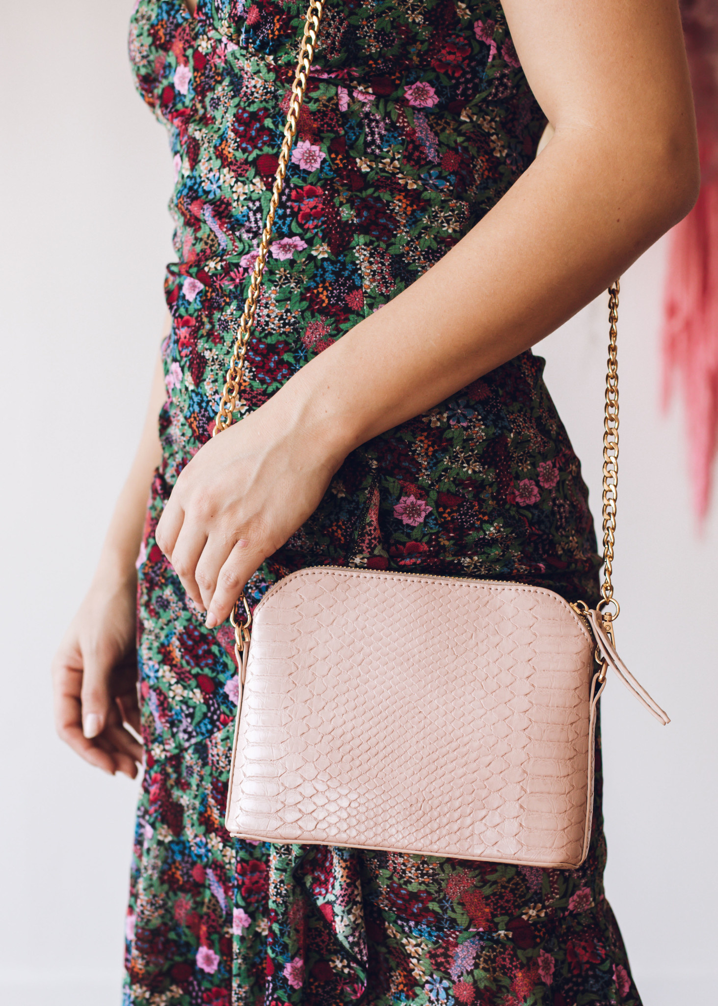 WHAT A NIGHT SNAKESKIN PURSE