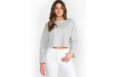 PACE YOURSELF DISTRESSED SWEATSHIRT