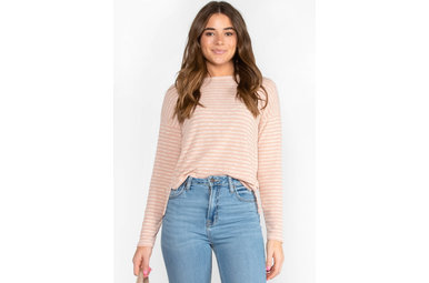ONE MORE TIME STRIPED TOP