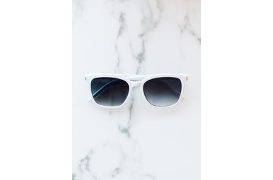 CLEAR SKIES WHITE SUNGLASSES