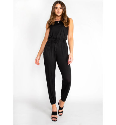TRAVEL BUG SLEEVELESS JUMPSUIT