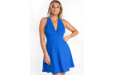 KISSED BY SUNSHINE BLUE DRESS