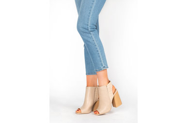 HIGHER HEIGHTS OPEN TOE HEELS