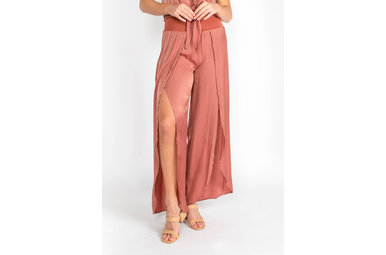 MIAMI WIDE LEG BOTTOMS - COPPER