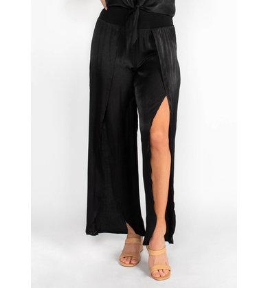 MIAMI WIDE LEG BOTTOMS - BLACK