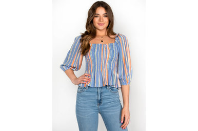SPRING SHOWERS STRIPED TOP