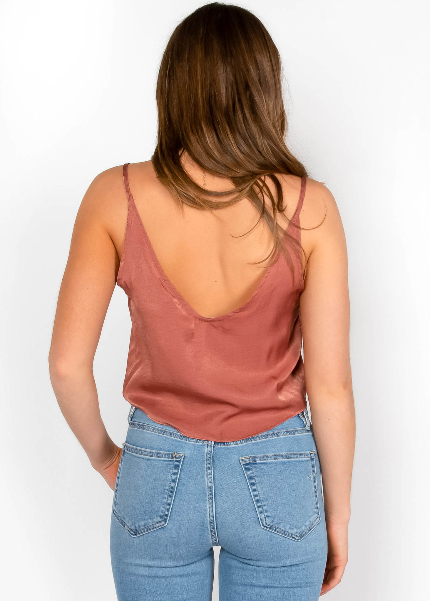 MIAMI FRONT TIE TANK TOP - COPPER