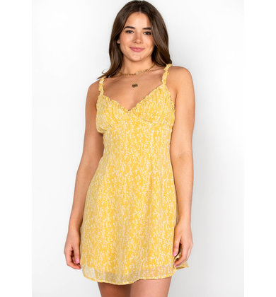 GONE TO MAUI DRESS - YELLOW
