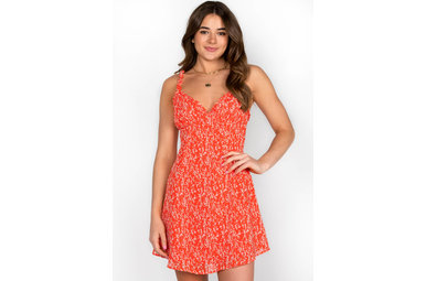 GONE TO MAUI DRESS - RED