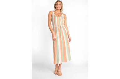 CORAL REEF STRIPED MAXI DRESS