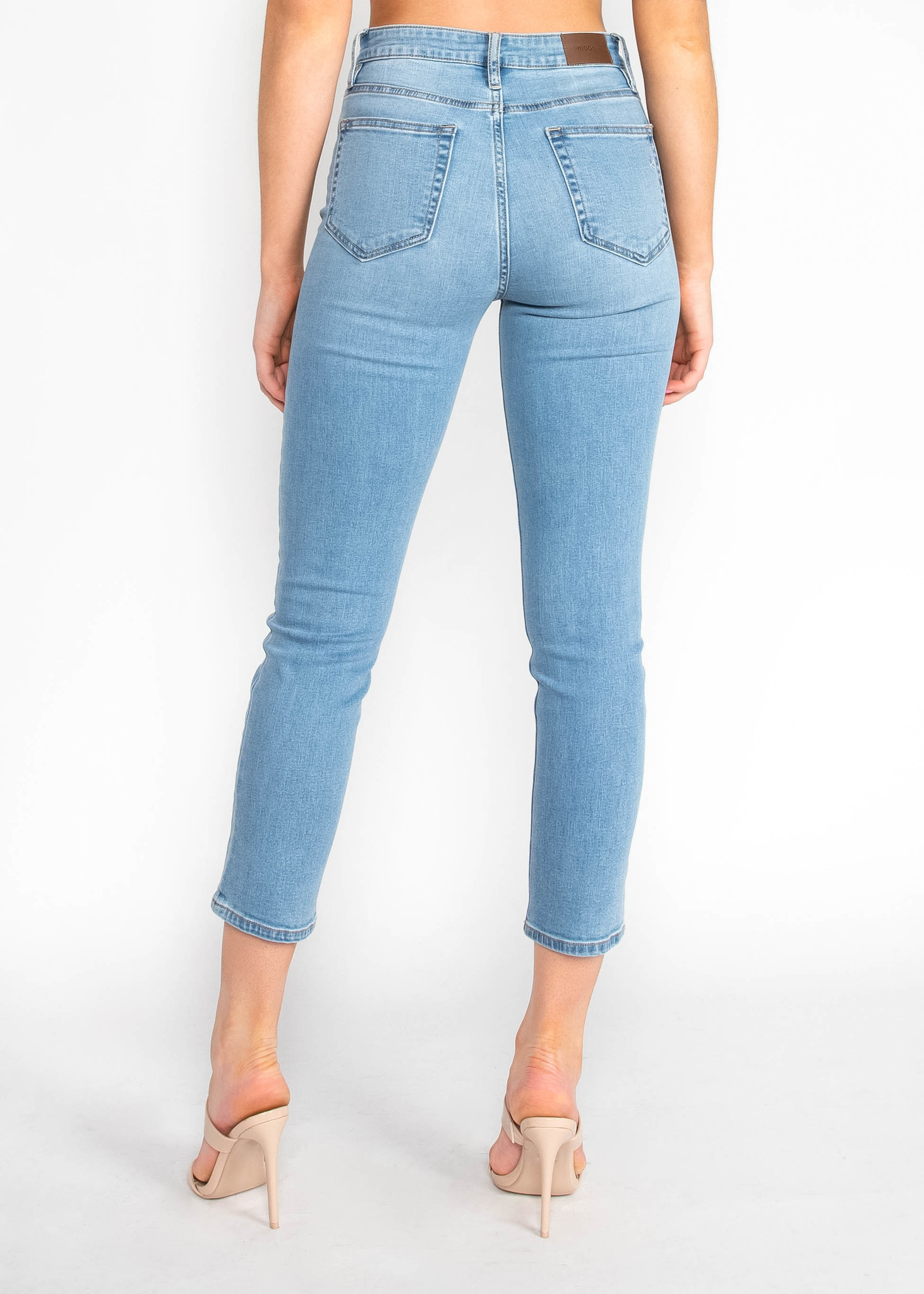 MAKE MEMORIES CROPPED JEANS