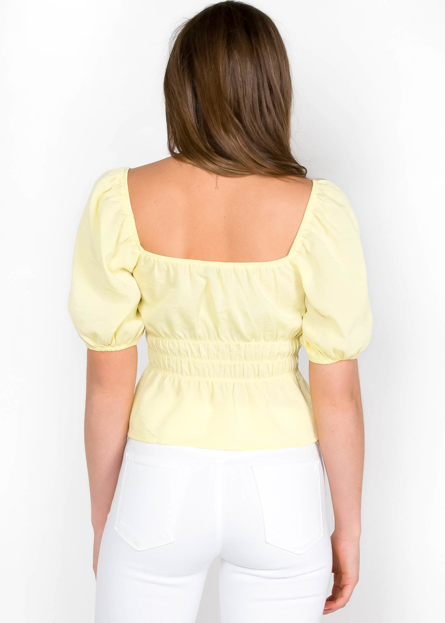 ABOVE THE CLOUDS PEPLUM TOP