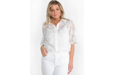 EVERLASTING BRODERIE ANGLAISE TOP
