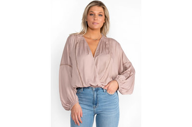 WITH YOUR LOVE MAUVE BLOUSE