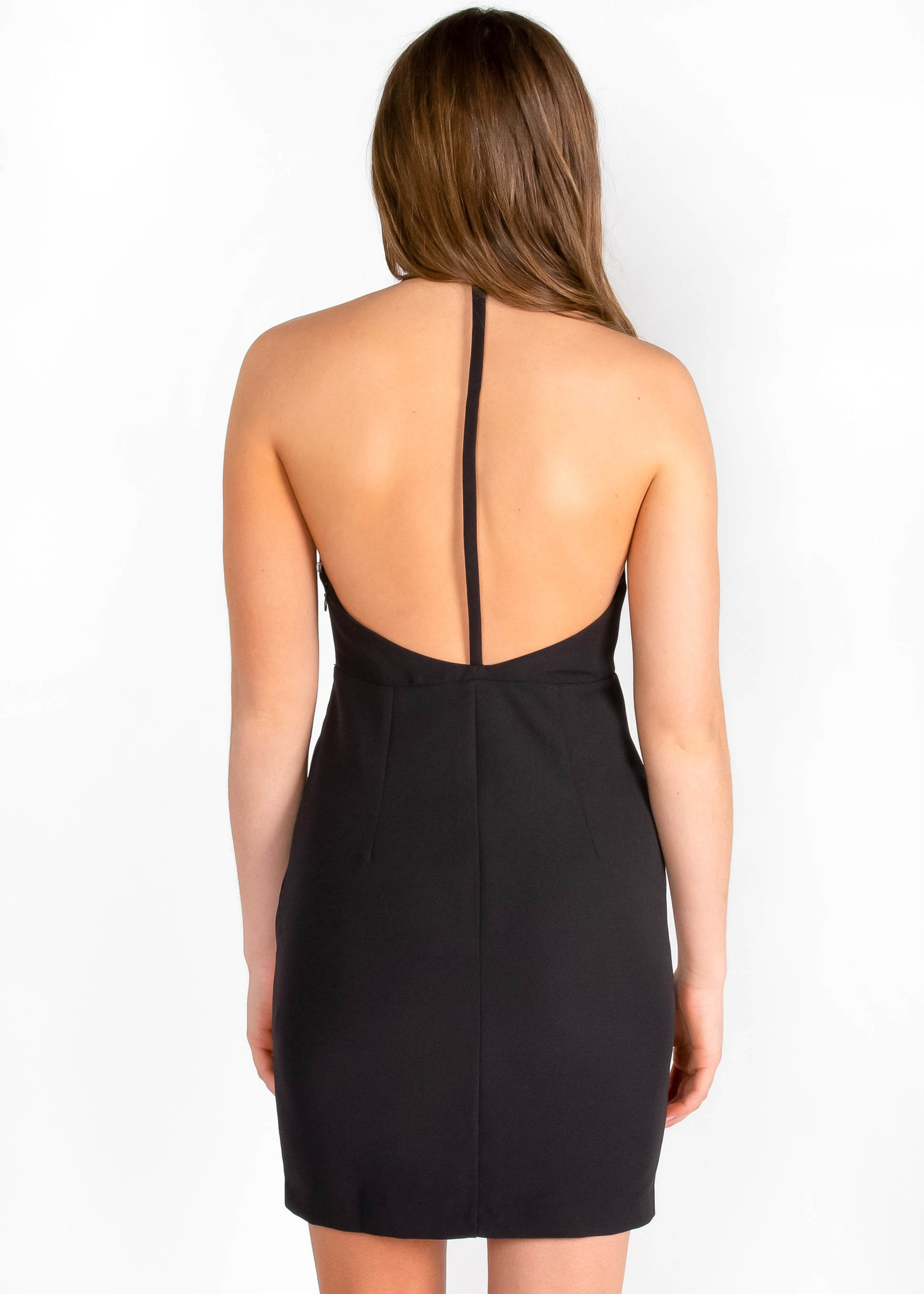 PORTIA BLACK OPEN BACK DRESS
