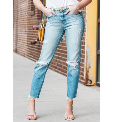 COCO DISTRESSED GIRLFRIEND JEANS