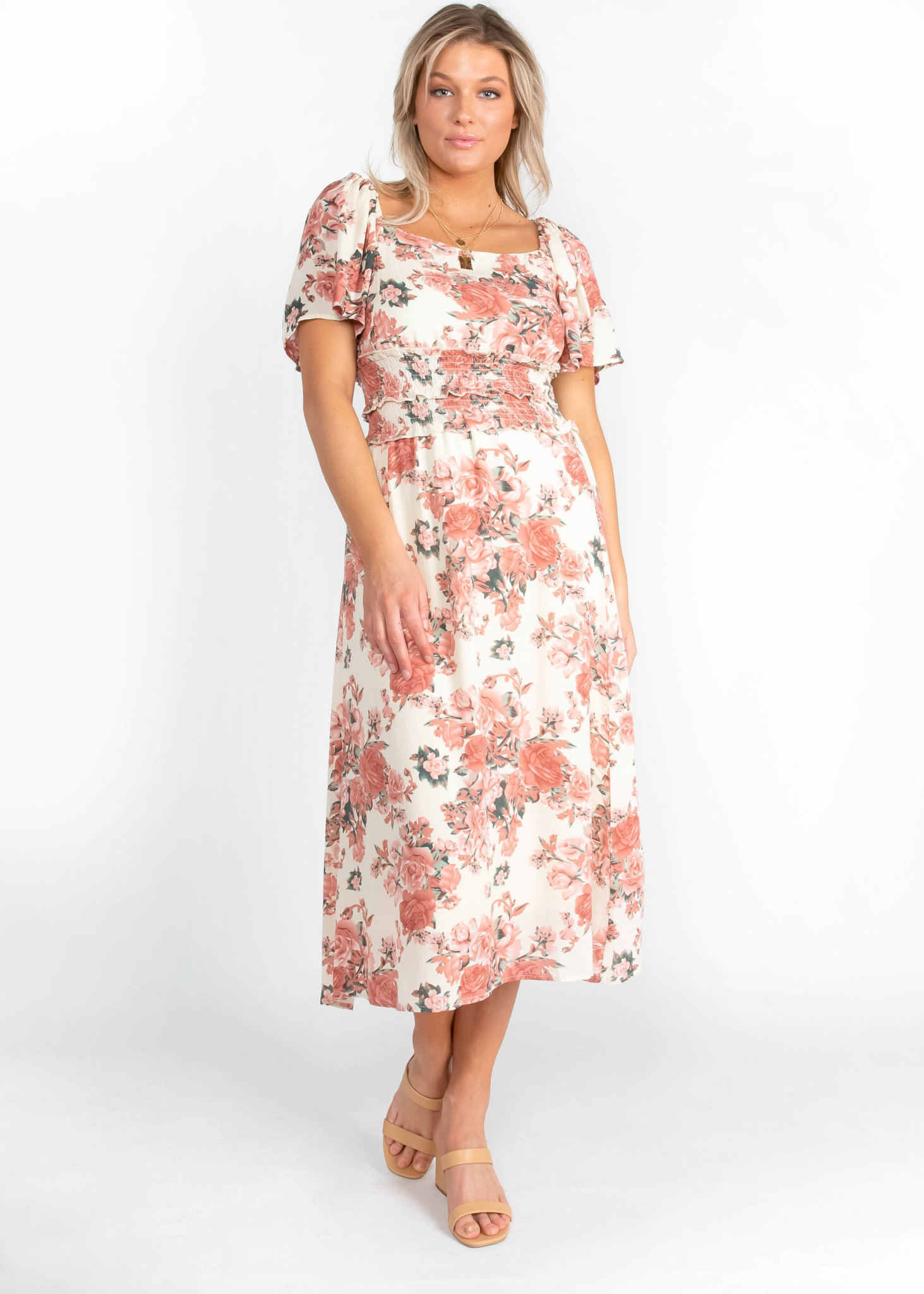 SEEKING SPRING FLORAL DRESS