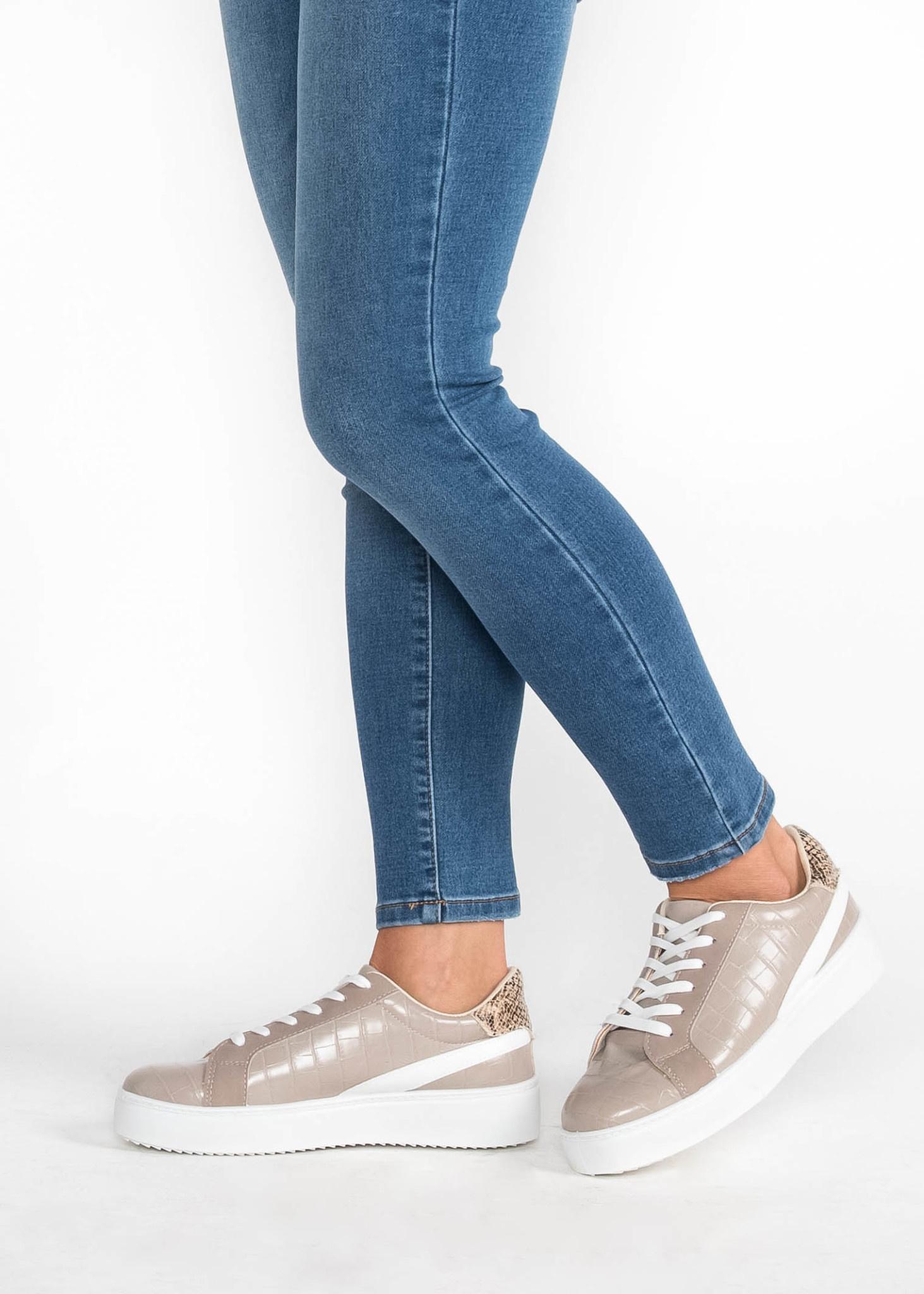 Verona Taupe Platform Sneakers | Shop