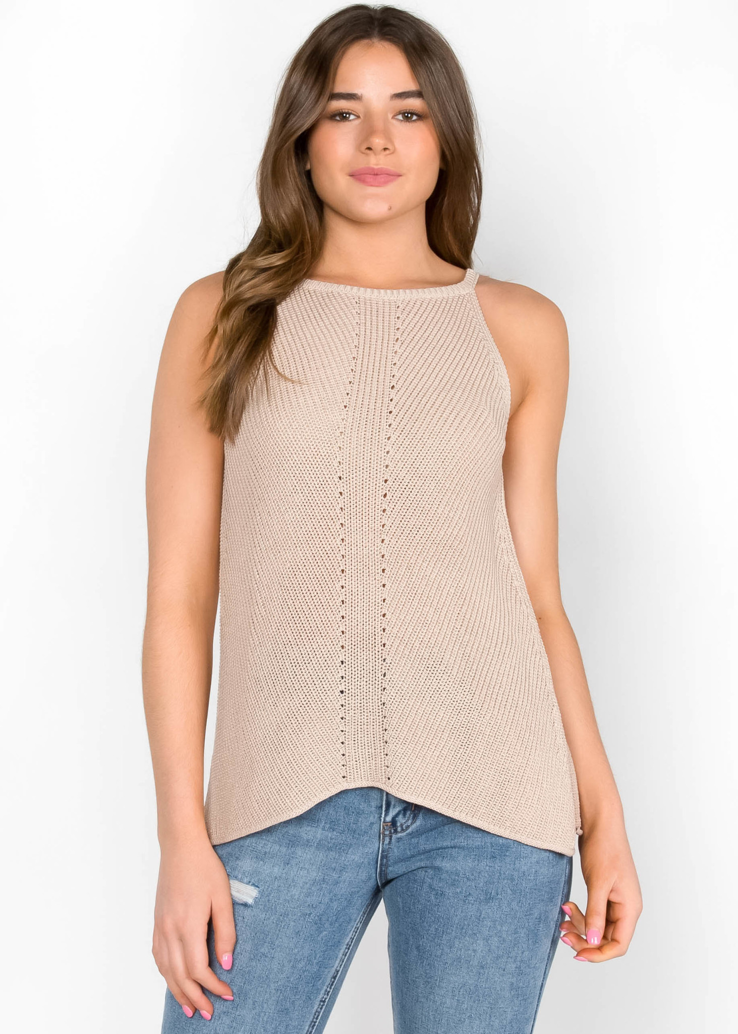 OUT IN THE SUN KNIT TANK TOP