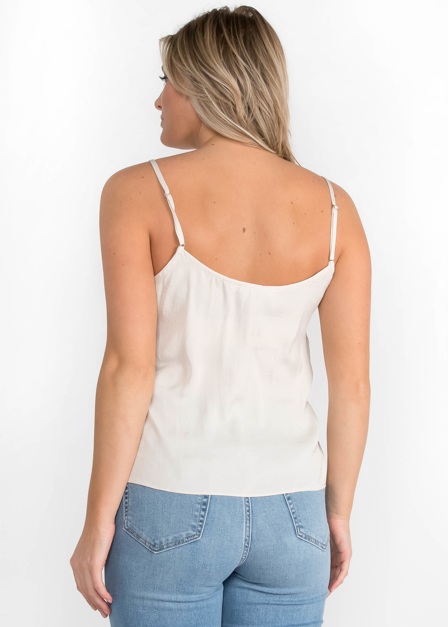 MINIMAL IVORY LACE TANK TOP