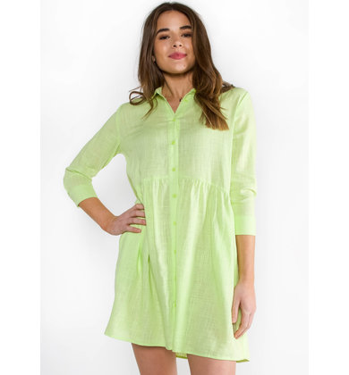 PHOENIX NEON BUTTON UP DRESS