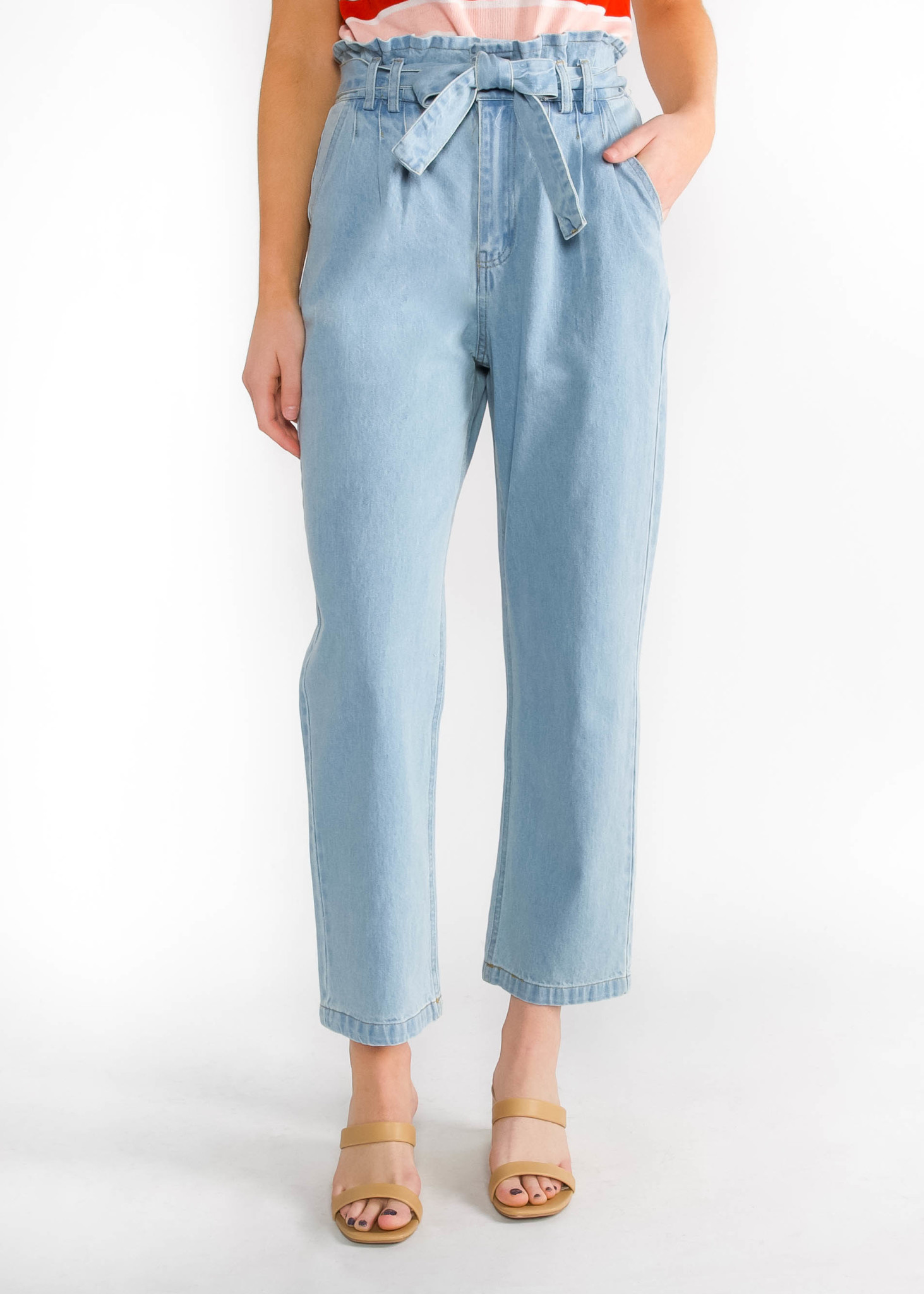 CENTER STAGE WAIST TIE JEANS