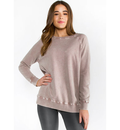RENEW LIGHTWEIGHT SWEATER - MAUVE
