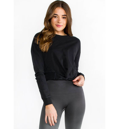 IMPULSE BLACK CROPPED SWEATSHIRT