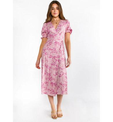 PRIMROSE FLORAL WRAP DRESS