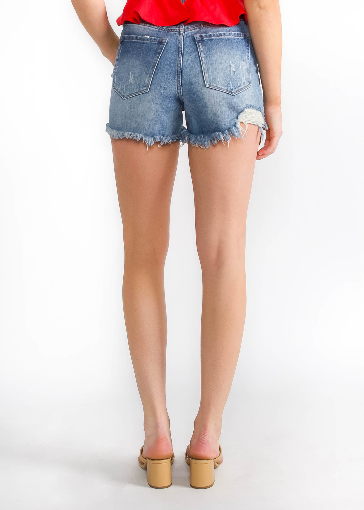 SUNDREAM DISTRESSED SHORTS