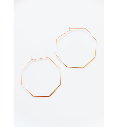 RYKER OCTAGON EARRINGS