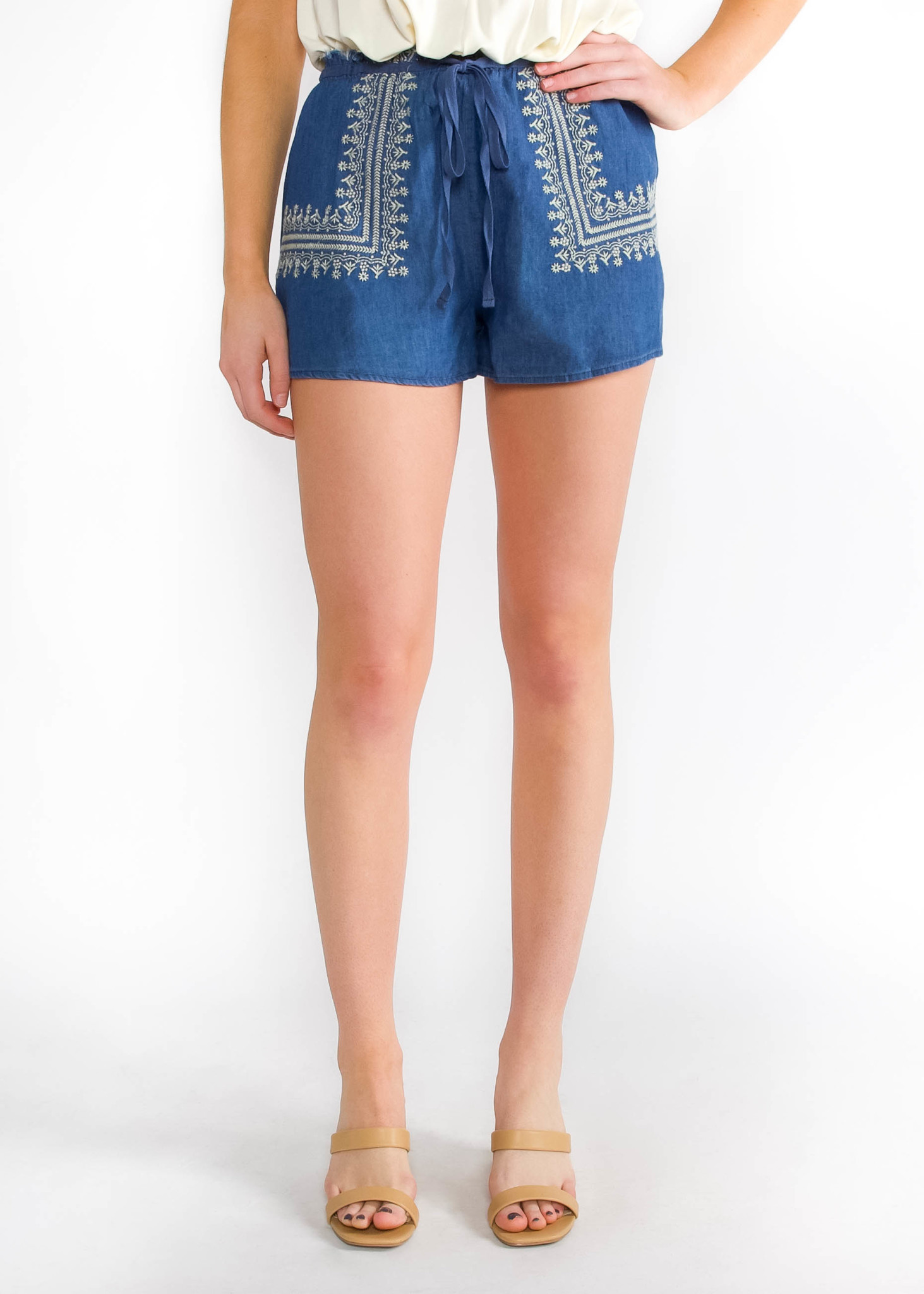 DREAMER EMBROIDERED SHORTS
