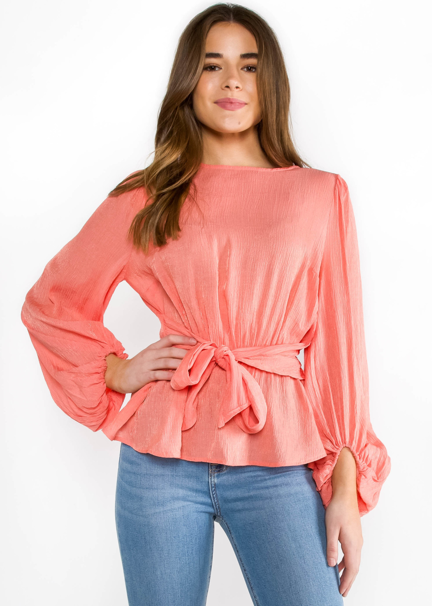 SPRING DREAMS CORAL BLOUSE
